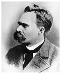 'Superman': Friedrich Nietzsche, German philosopher Fine Art Print by French School