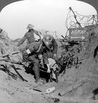 Carrying a wounded soldier to a first aid post, Passchendaele, Belgium, World War I Wall Art & Canvas Prints by Gustave Dore