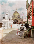 An Afternoon at the Exhibition Fine Art Print by Jacques Francois Joseph Swebach