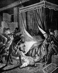 The murder of Tsar Paul I of Russia, March 1801 Fine Art Print by Raphael