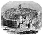 The Roman arena in Arles, Provence, France, in 1666 Wall Art & Canvas Prints by Rudolph von Alt