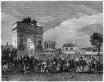 Entry of the National Guard into Paris, after the Prussian campaign Fine Art Print by Jacques Francois Joseph Swebach