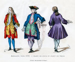 Dandy of c1729, court dress and town dress Fine Art Print by Cecil Charles Windsor Aldin