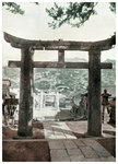 Stone torii, Suwa Temple, Nagasaki, Japan Fine Art Print by Sir Alfred East