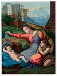Madonna of the Blue Diadem Fine Art Print by Master of the Lyversberg Passion
