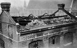 Damage done in the first bombing raid on London Fine Art Print by English Photographer