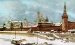The Kremlin, Moscow, Russia Fine Art Print by French School