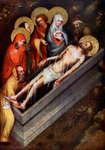 The Tomb of Christ', Master of the Trebon Altarpiece, about 1380 Fine Art Print by Luis de Morales