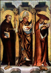 St Giles, St Gregory, and St Jerome Fine Art Print by Jean Bernard Restout