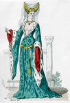 Noblewoman of the time of Charles VI of France Fine Art Print by John Evan Hodgson