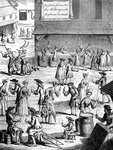 Cup and ball fair, during the reign of Louis XIV, France Fine Art Print by Nicolas Arnoult
