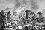 Fire at Saint Andre's Cathedral, Bordeaux, France Fine Art Print by Joseph Nash