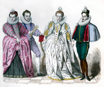 Louise of Lorraine, Duke of Guise, Marguerite de Vaudemont and Anne de Joyeuse Fine Art Print by Alonso Sanchez Coello