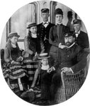 The Prince and Princess of Wales with their family on board the royal yacht Fine Art Print by Claude Monet