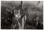 Aerial view of Manhattan, New York City, USA, from a Zeppelin Fine Art Print by English School