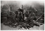 Aerial view of Manhattan, New York City, USA, from a Zeppelin Fine Art Print by Assaf Frank