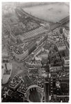 Aerial view of Trafalgar Square, London, from a Zeppelin Fine Art Print by Assaf Frank