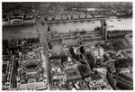 Aerial view of Westminster, London, from a Zeppelin Fine Art Print by Tom Young