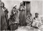 A mullah teaching a prayer to a young man, Iraq Fine Art Print by Rudolphe Ernst