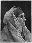 Old Jewish woman of Cairo, Egypt Fine Art Print by Firyal Al-Adhamy