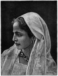 Young Jewish woman of Cairo, Egypt Fine Art Print by Firyal Al-Adhamy
