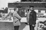 An old army comrade visits Adolf Hitler at Obersalzberg, Bavaria, Germany Poster Art Print by German Photographer