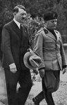 Meeting between Hitler and Mussolini Fine Art Print by German Photographer