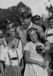 Adolf Hitler with a group of young children Wall Art & Canvas Prints by German Photographer