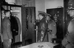 Adolf Hitler visiting the SS Leibstandarte Regiment Fine Art Print by English School