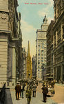 Wall Street, New York City, New York, USA Fine Art Print by American School