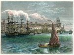 View of the city of San Domingo from the harbour, Dominican Republic Fine Art Print by Philipp Herrlich