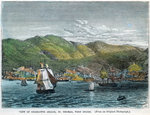 View of Charlotte Amalie, St Thomas, West Indies Fine Art Print by English School