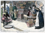 Poultry and egg market in Gibraltar Fine Art Print by Sir John Everett Millais