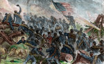 Hooker's Battle, American Civil War Fine Art Print by Emanuel Gottlieb Leutze