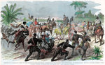Return of a foraging party to Baton Rouge, Louisiana, American Civil War Fine Art Print by English School