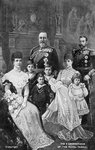 Three generations of the British Royal Family Fine Art Print by Edward Killingworth Johnson