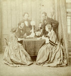 A Game of Cards Fine Art Print by Johann Heinrich Tischbein
