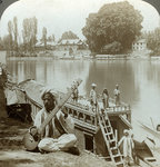 Houseboat party, Jhelum River, Kashmir, India Postcards, Greetings Cards, Art Prints, Canvas, Framed Pictures, T-shirts & Wall Art by Carl Haag