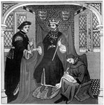 Edward III and the Earl of Flanders Fine Art Print by Niklaus Manuel