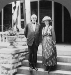 President and Mrs Harding at their home, Marion, Illinois, USA Wall Art & Canvas Prints by Graham Dean
