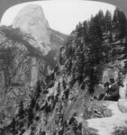 View from Glacier Canyon to Half Dome, Yosemite Valley, California, USA Wall Art & Canvas Prints by Albert Bierstadt