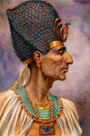 Rameses II, Ancient Egyptian pharaoh of the 19th Dynasty Fine Art Print by Spanish School
