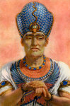 Rameses III, Ancient Egyptian pharaoh of the 20th Dynasty Fine Art Print by Spanish School