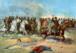 Cavalry charge by US regulars, Spanish-American War Wall Art & Canvas Prints by Ron Embleton