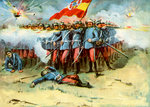 'The Last Stand', square of Spanish infantry, Spanish-American War Fine Art Print by Richard Caton Woodville