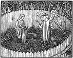 Illustration from the Kelmscott Press edition of the Works of Geoffrey Chaucer Fine Art Print by Dante Gabriel Rossetti