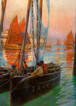 Brest Fishing Boats Fine Art Print by William Cooper