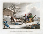 Bonaparte's Flight in Disguise from Russia Fine Art Print by French School
