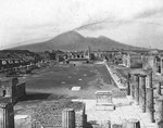 Forum, Pompeii, Italy Postcards, Greetings Cards, Art Prints, Canvas, Framed Pictures & Wall Art by William Henry Bartlett