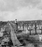 Hooge Crater Cemetery, near Ypres, Belgium, World War I Wall Art & Canvas Prints by French School